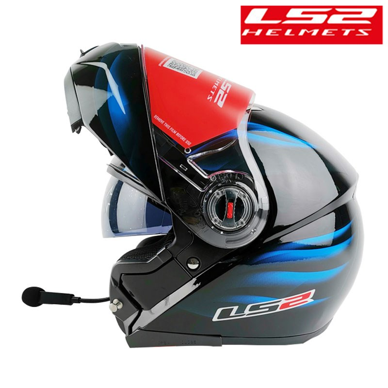 Bluetooth Headset LS2 FF370 Modular Motorcycle Helmet Flip Up Kask Intercom Capacete Racing Handfree Casco Moto
