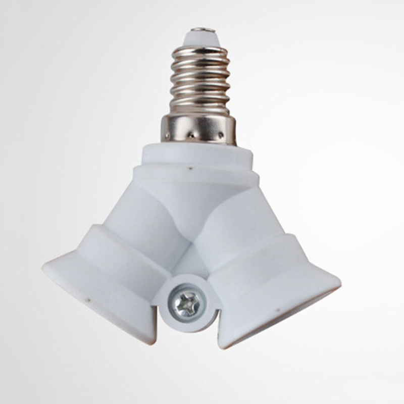 2in1 Adjustable E14 Base Light Lamp Bulb Adapter Holder Socket Splitter  220-230V Ceiling To Convert E14 Sockets