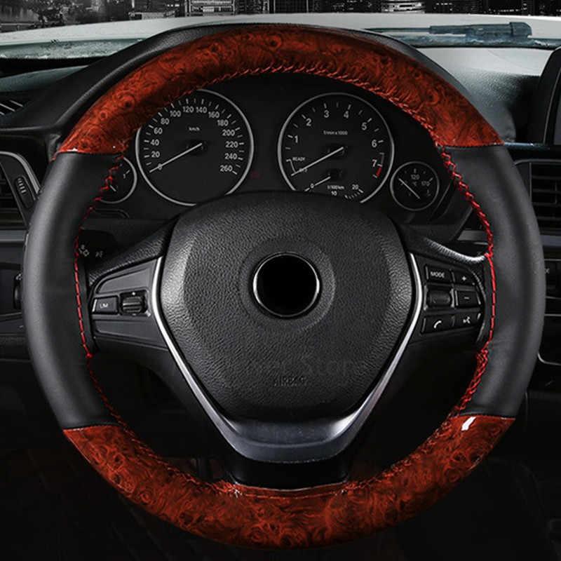 ฝาครอบพวงมาลัยรถยนต์ 38 ซม.สำหรับ Audi 80 100 A1 A3 8L 8 P 8 V berline Sportback a4 Avant Avant B8 TT MK2