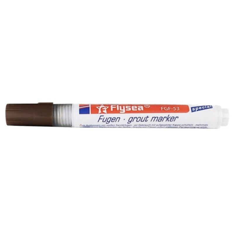 Плитка зазор ремонт цветная ручка белая плитка заправка Затирка Ручка водонепроницаемый Mouldproof наполнитель агенты Стены Фарфор Ванная комната чистящее средство для краски - Цвет: Brown1