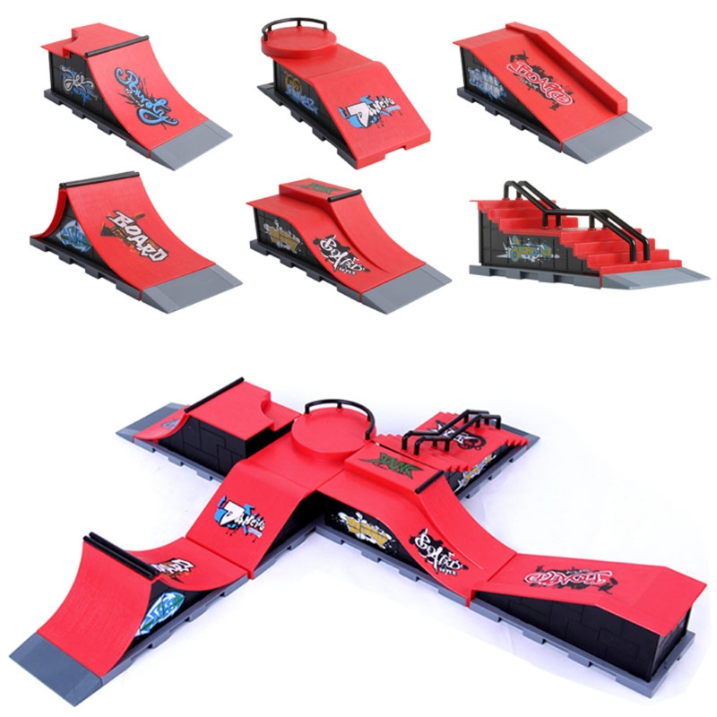 Skate Park Ramp Parts For Tech Deck Fingerboard Finger Board Ultimate Parks New