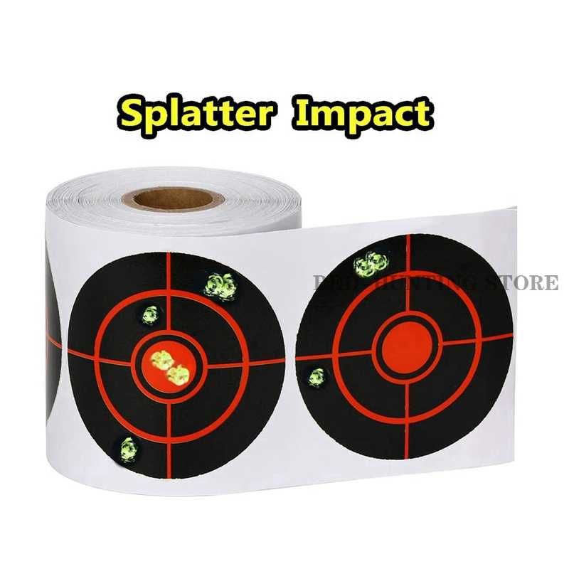 125pcs//Roll 3 inch Reactive Target Stickers for BB Pellet Air Gun Shooting
