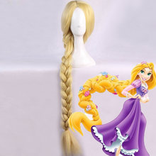 "Anime Tangled Prinses 120 Cm 47 ""Straight Blonde Super Lange Braid Styled Synthetisch Haar Pruik Rapunzel Kostuum Cosplay Pruiken(China)"