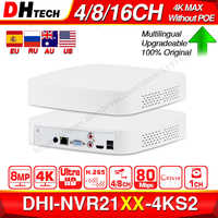Dahua Original 4K NVR NVR2104-4KS2 NVR2108-4KS2 NVR2116-4KS2 4/8/16CH 1U Lite Network Video Recorder H265 For IP Camera System