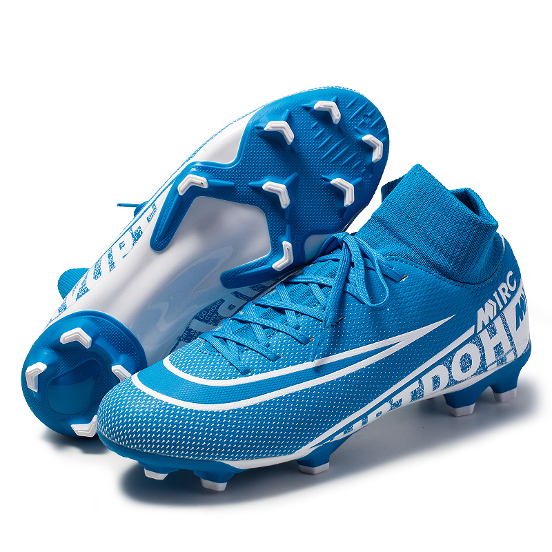 New Soccer Shoes Men Breathable Outdoor High-top Football Boots Turf Soccer Cleats Kids AG Football Shoes Chuteira Futebo