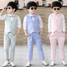 Dresses Party-Costumes Wedding-Suits School-Outfits Toddler Formal Boy Kids Vest Children