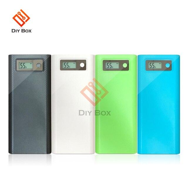 8X18650ไฟฉายแบตเตอรี่กล่องชาร์จ Charger Box Power Bank DIY Shell Dual USB 18650แบตเตอรี่ Shell Storage จัดระเบียบ