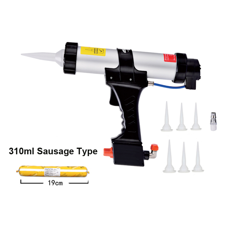 310ml Cartridge Gun Air Caulking Gun Pneumatic Sealant With The Rapid Regulating Valve For Paint & Decorating Silicon Tools