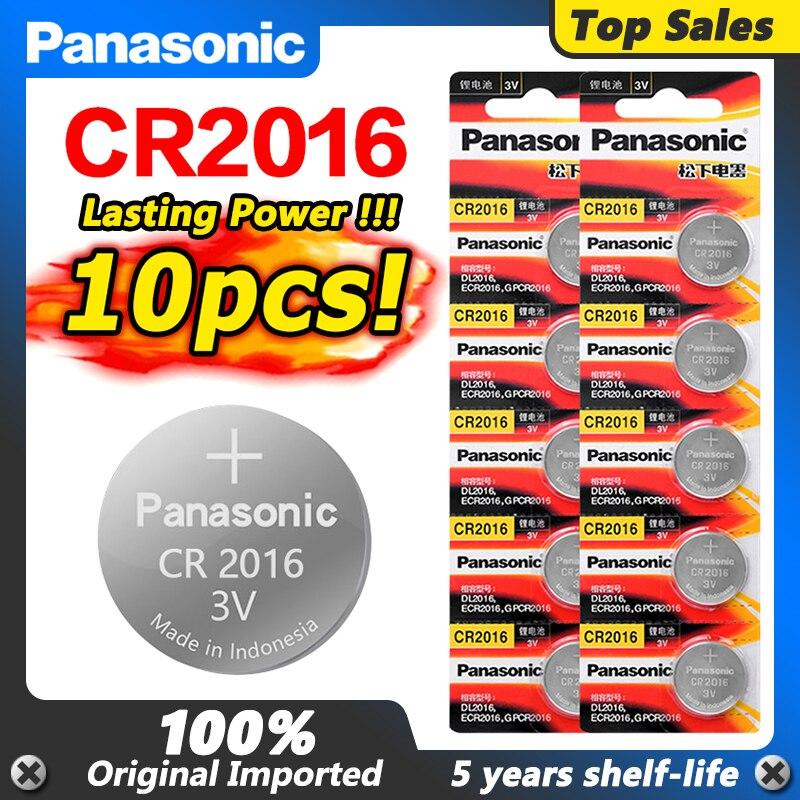 10 шт. оригинальный PANASONIC CR2016 часы 3 в кнопка батареи Li-Po литиевая батарея управления игрушечный автомобиль батарея Бесплатная доставка для и...