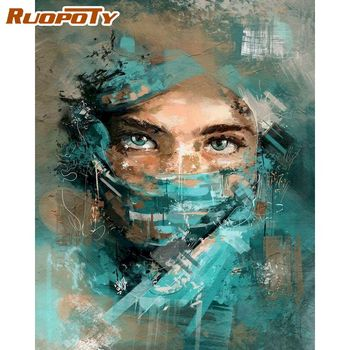 RUOPOTY 40x50cm Painting By Numbers DIY Gift For Adults Woman Figure Paint By Number Unique Handmade Home Decors Artwork