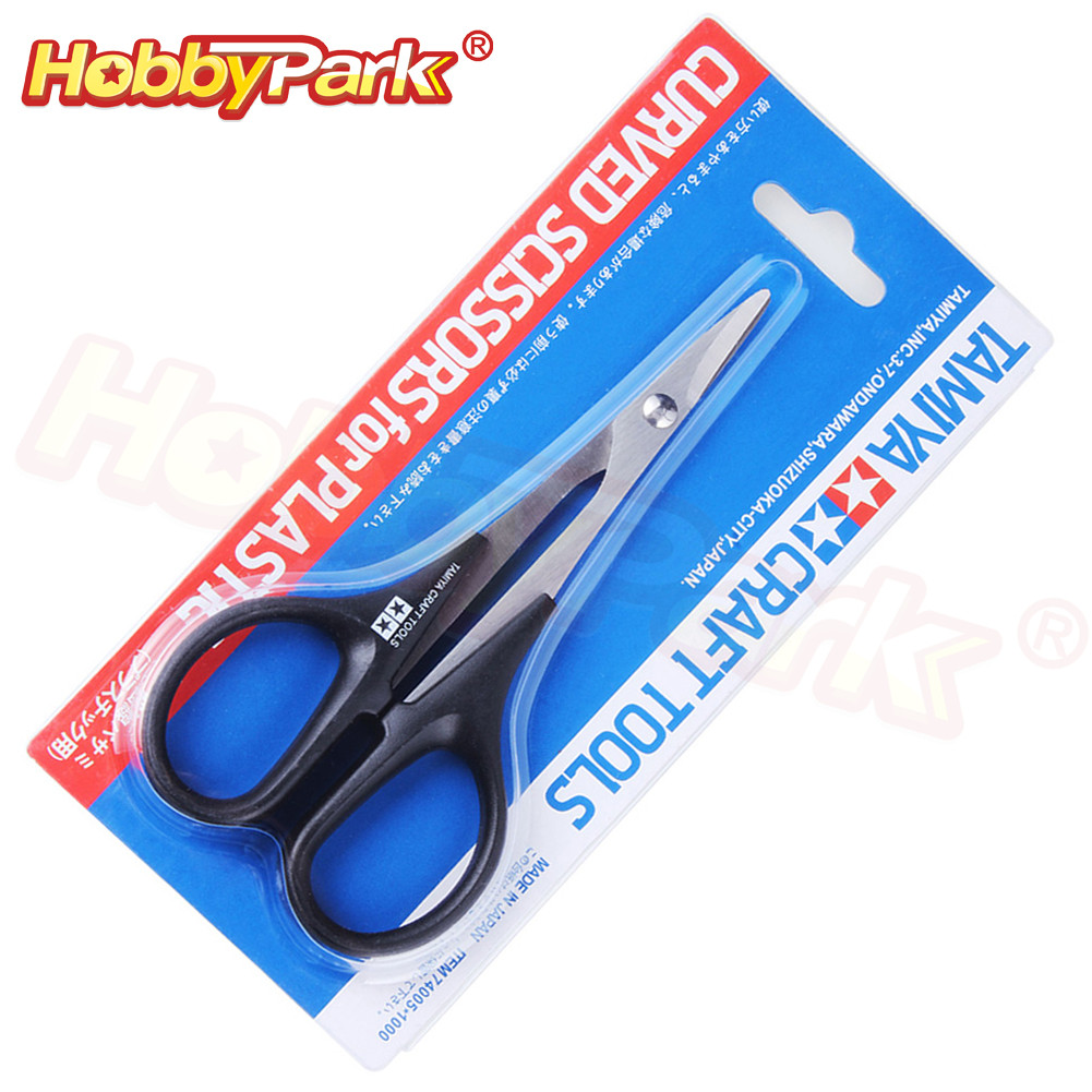 Tamiya 74005 <font><b>RC</b></font> <font><b>Car</b></font> <font><b>Body</b></font> Scissors Curved Tip Hard Stainless Steel For Remote Control Vehicle Boat Plastic Bodyshell Canopies image