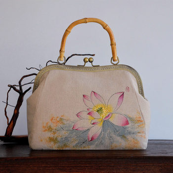 2020 High-End New Shoulder Bag Chinese Clutch Banquet Hanfu Ancient Chinese-Style Hand-Painted