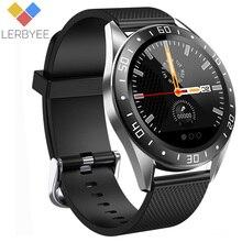 Lerbyee akıllı saat GT105 Bluetooth kan basıncı spor izle uyku monitör erkekler kadınlar Smartwatch iOS Android için kalp hızı
