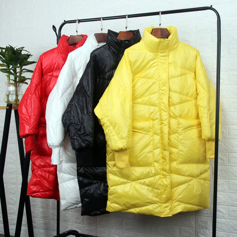 2019 Small Heat Cling To   Down   Jackets Girls Long Fund Easy Will Code Loose   Coat   Back Season