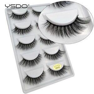 Image 3 - YSDO 50 boxes eyelashes mink eyelash strip 3d lashes false lashes makeup 3d mink lashes 250 pairs eyelashes extension wholesale