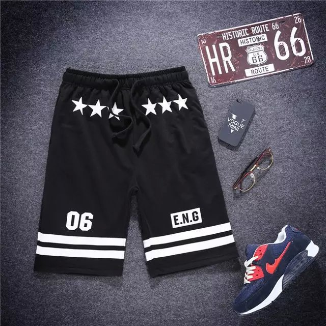 Star Style Casual Pants Casual Hip Hop HBA Men And Women Tight-Fit Comfortable Men's Casual Shorts Fashion