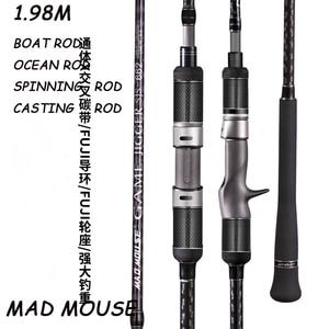 Image 1 - MADMOUSEญี่ปุ่นเต็มรูปแบบFujiอะไหล่ช้าJigging Rod 1.98M PE 3 6น้ำหนักล่อ150 400G 20kgsปั่น/หล่อเรือRod Rodมหาสมุทร