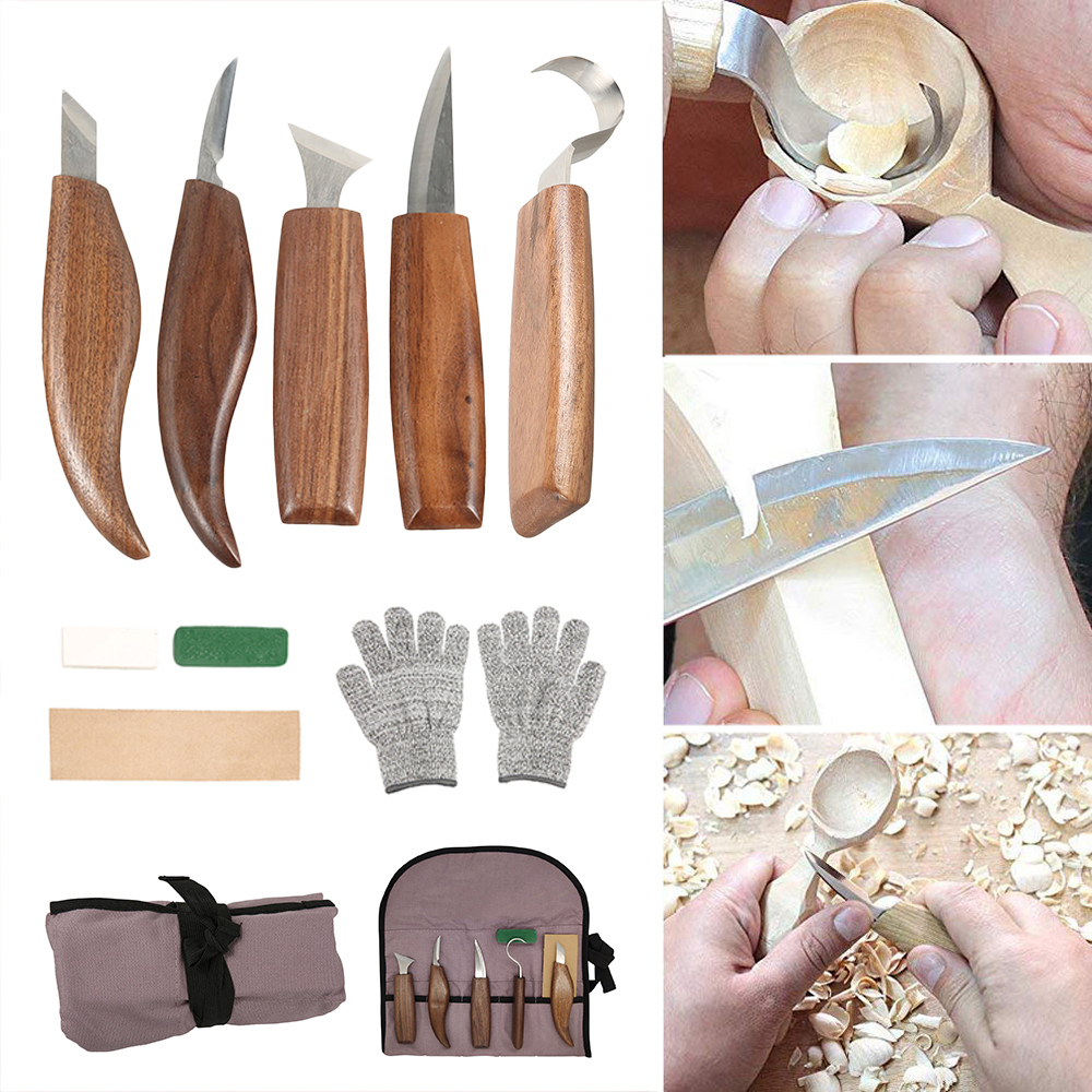 1 Set Carving Knife Woodcut DIY Hand  Wood Carving Tools Woodcarving Cutter  Knives Woodworking Hand Tools worker