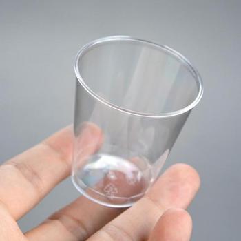 20 sztuk 30ml przyjazne dla środowiska przezroczysty z tworzywa sztucznego kieliszek jednorazowe kubki szklane kubki do wesela urodzinowa zastawa stołowa tanie i dobre opinie CN (pochodzenie) 20pcs
