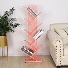 Creative Tree-shaped Iron Grid Book Shelf Bookshelf Rack For Library Book Store Office Working Study Books Display Storage Rack