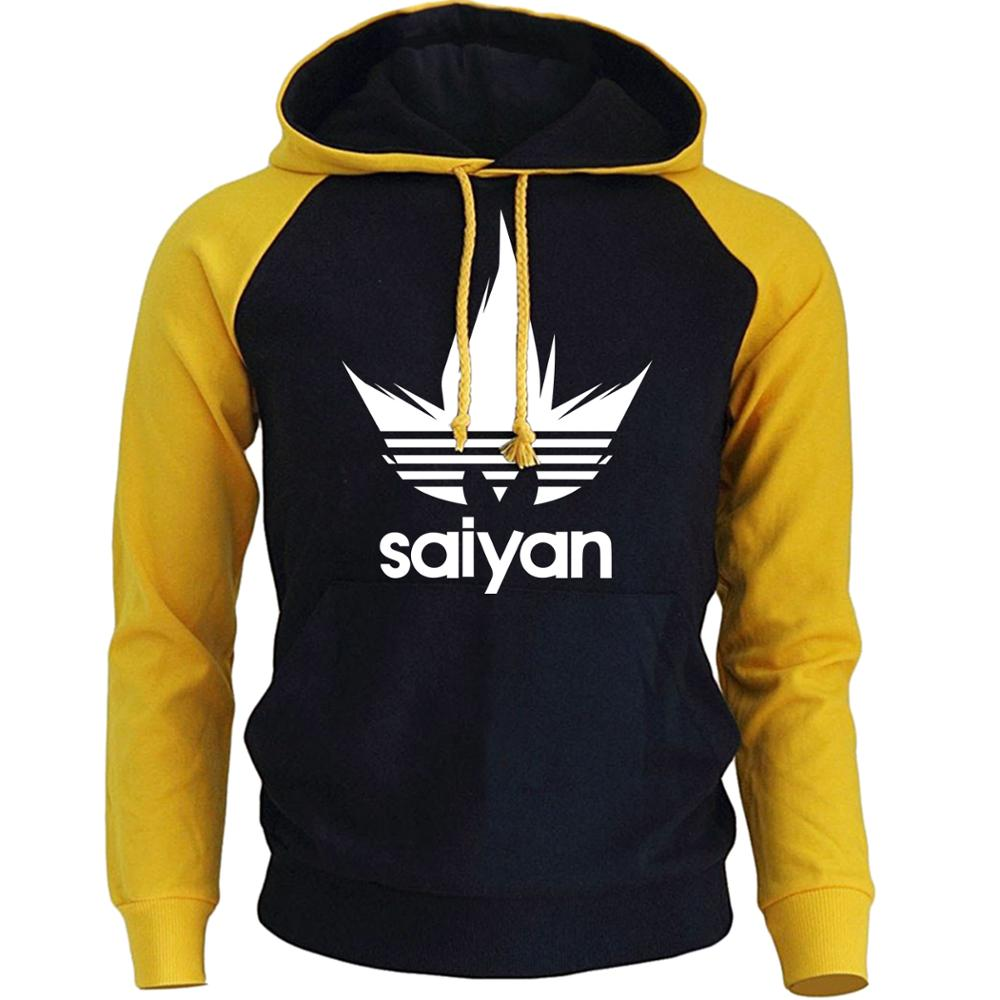 Men's Hoodies Anime Dragon Ball Z Super Saiyan Sweatshirt 2018 New Hot Sale Raglan Hoody Autumn Winter Men's Sportswear Hoodie