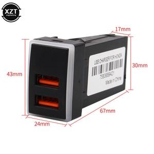 Image 5 - 12V Dual USB Car Charger QC3.0 LED Voltmeter Power Adapter With Digital Voltage Display For HONDA