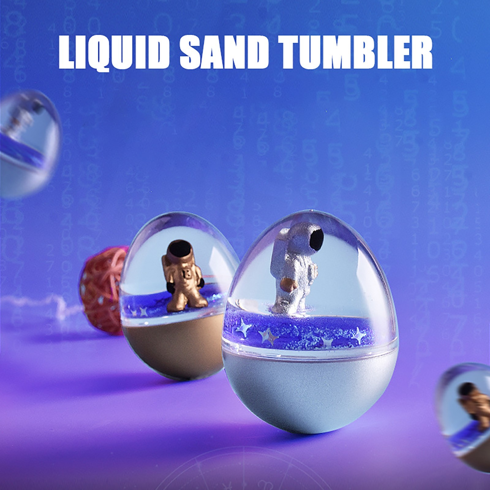 Astronaut Floating Sand Tumbler Toy Cartoons Creative Personality New Toys for Adults Kids Personalized Gift 20ML