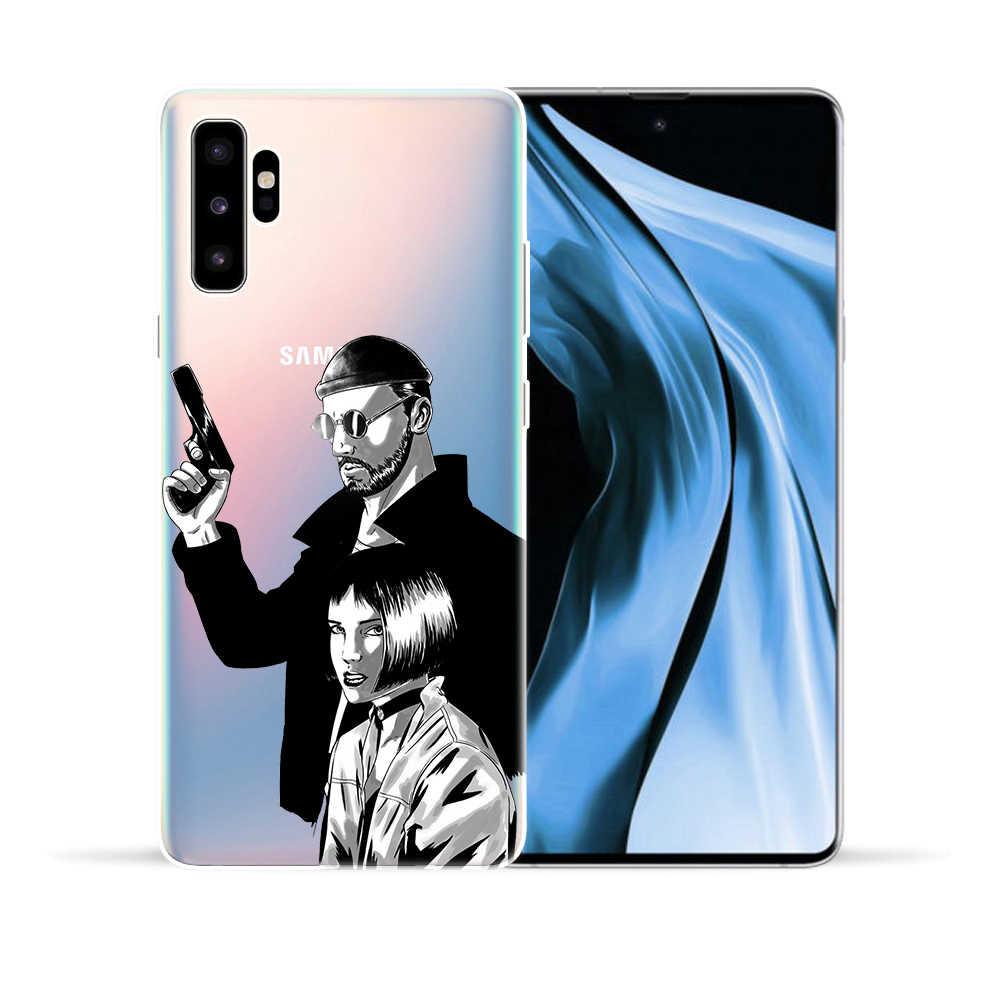 ภาพยนตร์ Leon และ Mathilda Professional Killer กรณีสำหรับ Samsung Galaxy หมายเหตุ 10 Pro 5G หมายเหตุ 9 8 5 m10 M20 M30 M40 ซิลิโคน