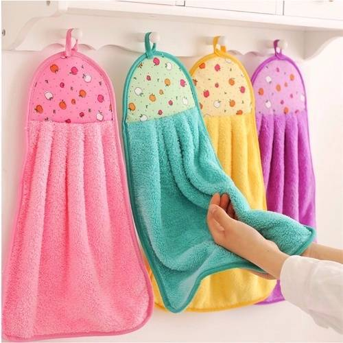 Soft Plush Hand Towel Wipe Hanging Bathing Towel For Bathroom Strong Efficient Cleaning Towel Kitchen To Produce An Effect Toward Clear Vision