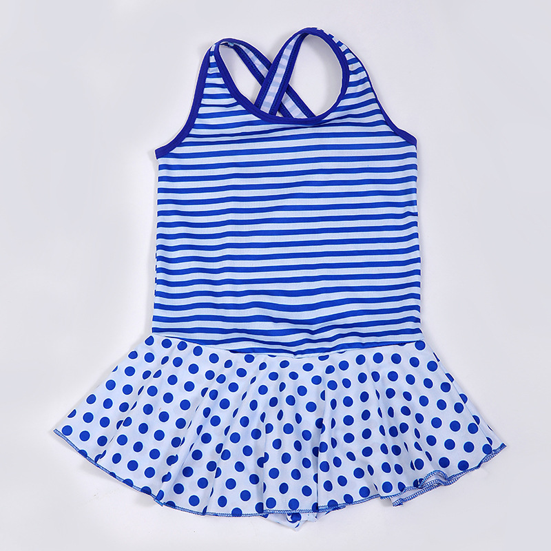 New Style KID'S Swimwear Cute Girls Dress-Big Boy Tour Bathing Suit Students Swimwear