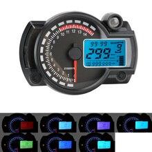 Leepee max 299km/h moto dashboard velocímetro da motocicleta 7 cores medidor de motocicleta lcd digital odômetro