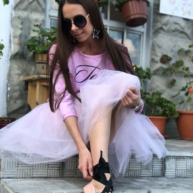 Skirts Womens 7 Layers Midi Tulle Skirt Fashion Tutu Skirts Women Ball Gown Party Petticoat 2019 Lolita Faldas Saia