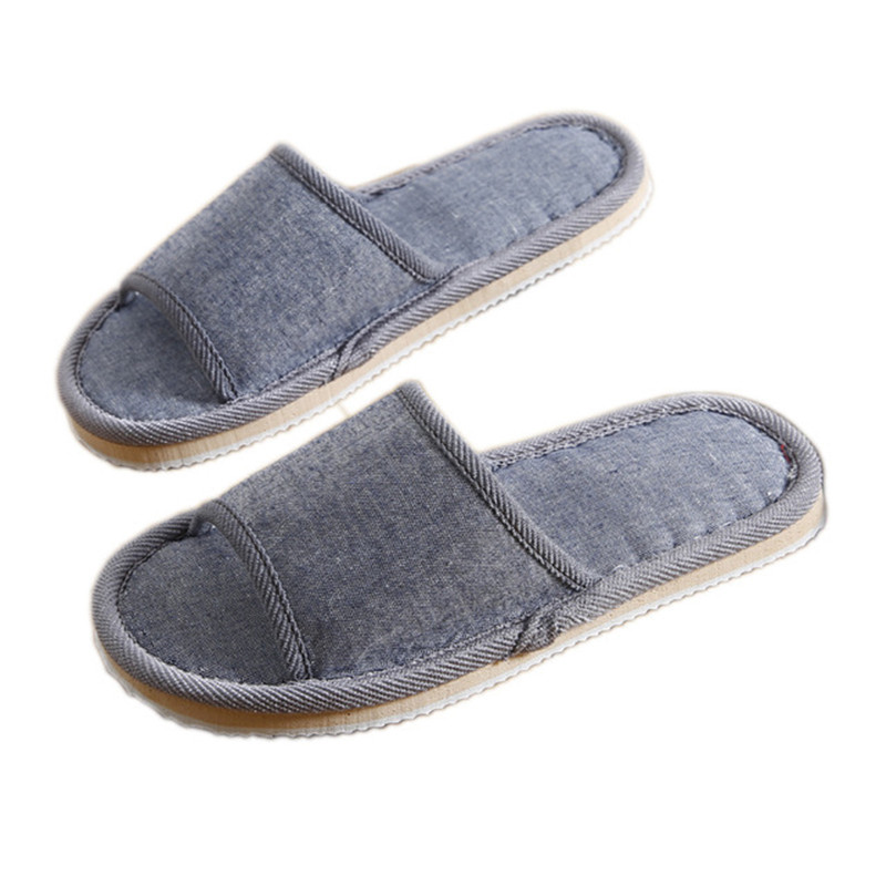 Natural Flax Home Slippers Indoor Floor Shoes Silent Sweat Slippers For Summer Women Sandals Slippers 37-43 2