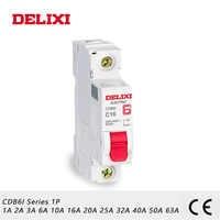 DELIXI CDB6i 1P Mini Circuit breaker 230/400V AC 1A 2A 3A 6A 10A 16A 20A 25A 32A 40A 50A 63A 50 HZ/60 HZ C kurve MCB