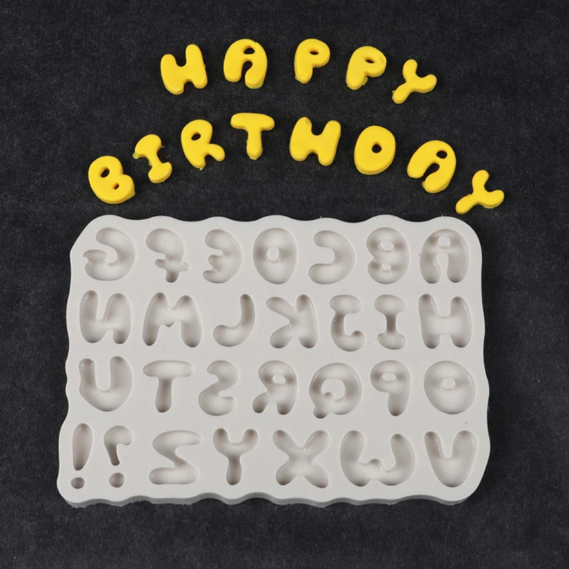 Capital <font><b>Letter</b></font> Silicone Mold Sugarcraft Chocolate Cupcake Baking Mold Fondant <font><b>Cake</b></font> <font><b>Decorating</b></font> <font><b>Tools</b></font> image