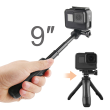 Handheld Mini Tripod Mount Selfie Stick Extendable Monopod for GoPro Hero 8 7 6 5 4 Yi 4K Sjcam Sj8 Eken H9r Dji Osmo Action Cam portable hand grip waterproof selfie stick pole tripod for gopro hero 7 6 5 4 sjcam eken yi 4k dji osmo action camera accessory