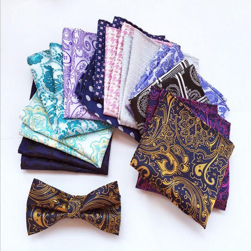 New 25*25CM Pocket Square Vintage Floral Paisley Silk Handkerchief Accessoires Homme Mariage