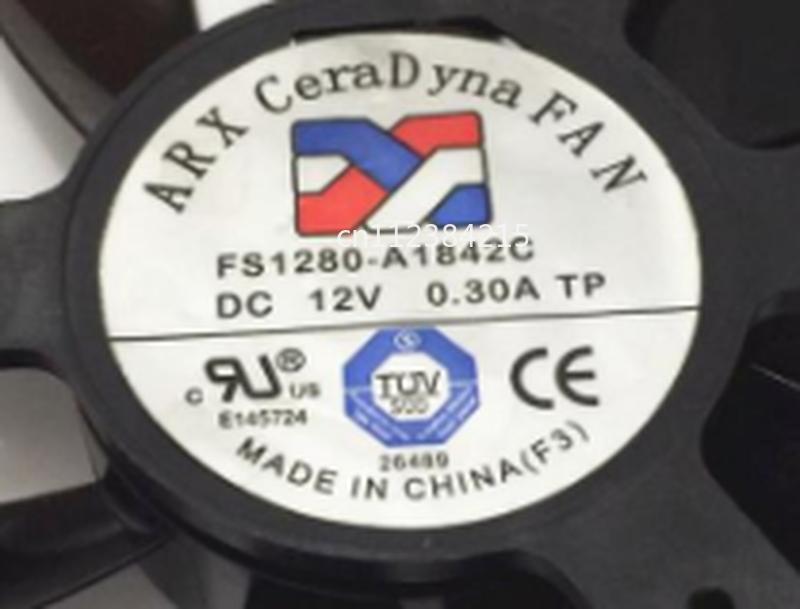 Free Shipping For ARX FS1280-A1842C DC 12V Dia. 75mm C.T.C 40mm 2-Wire Server Frameless Fan