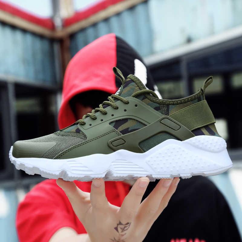 Nhà Thiết Kế Huraches Sneaker Nam Nữ Giày Sneaker Cao Cấp Chạy Bộ Đường Ngôi Sao Thành Phố Chạy Retro Quần Jogger Màu Cam Trắng