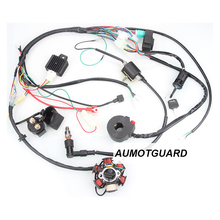 цена на Dirt Bike ATV Quad Wire Harness For 50cc 70cc 90cc 110cc 125cc  Start Electric Assembly Wiring