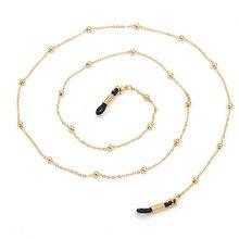 70cm feminino frisado óculos correntes de leitura óculos titular cinta cordões colhedores para meninas ouro preto cor prata