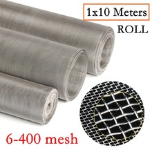 10Meters/Roll 304 Stainless Steel Filter Mesh Metal Woven Wire Mesh Net Filtration Screening Sheet Screen Filter Industrial Tool