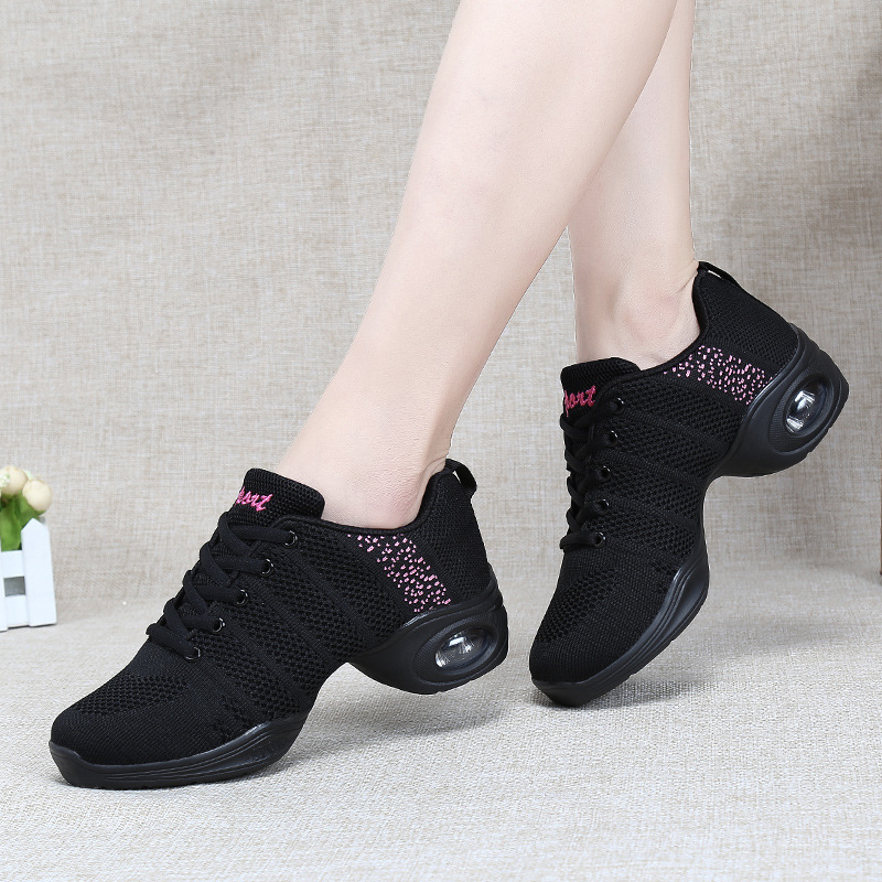 Sneakers Women Dance Sport Shoes Latin Woman Modern Dancing Shoes Jazz Breathable Ballroom Dance Zapatos De Baile Latino Mujer image