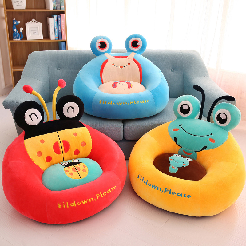 Cartoon Sofa Tatami Children's Seat Plush Toys Lazy People Change Shoes Stool Oversized Baby Gifts Can Be Removable And Washable