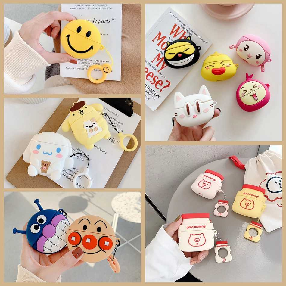 For Airpods Pro Case 3d Cute Purin Dog Smile Bacterial Earphone