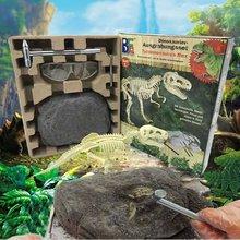Dzieci DIY Model malarstwo edukacyjne archeologia dinozaurów wykopaliska zabawki-tyranozaur tanie tanio 8 ~ 13 Lat 5-7 lat Zwierzęta i Natura Chiny certyfikat (3C) t225 Not edible