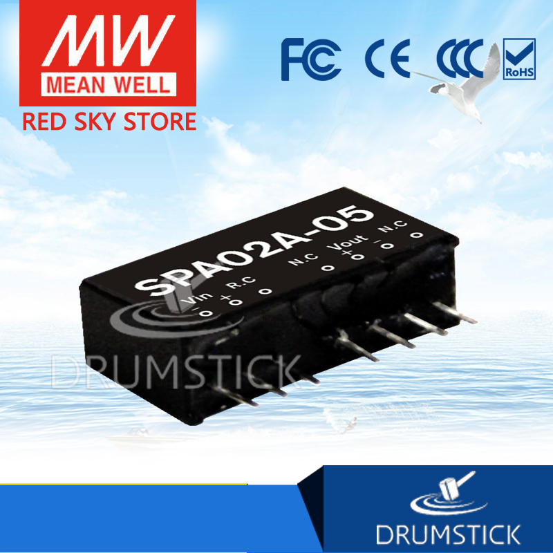 MEAN WELL SPA02A-05 5V 40~400mA 2W DC-DC Regulated Single Output Converter DC//DC Converter