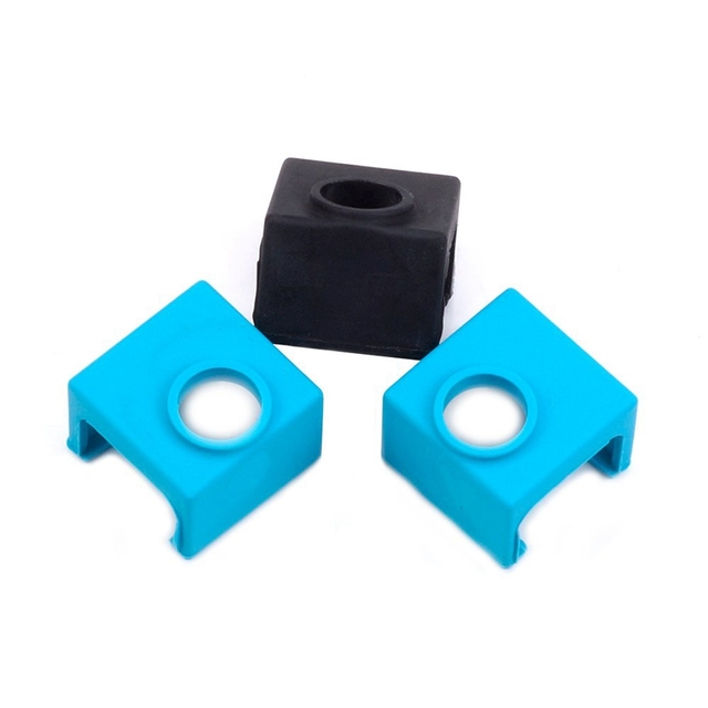 3D Printer Mk10 Silicone Socks, 3D Printer Parts Heater Block Silicone Cover Thermal Protection Silicone Sock For Wanhao I3 Ma