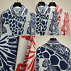 Shirt Women Spring 2021 New arrival Fashion Print Chiffon Blouse Long sleeve Elegant Tops 4