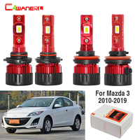 Cawanerl 4 X Car 60W LED Headlight Bulb High Low Beam 9005 H11 White 9000LM 12V For Mazda 3 2010 2019